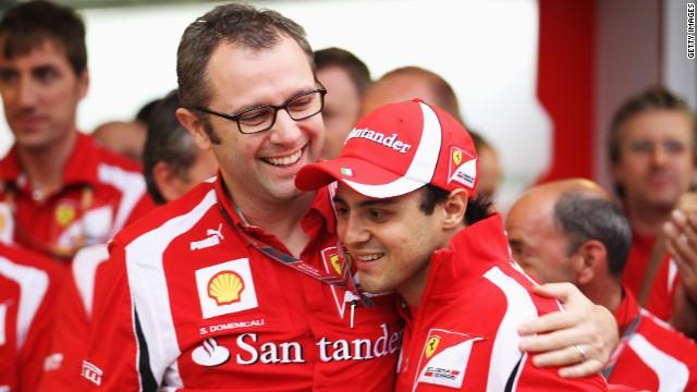 Ferrari driver Felipe Massa (right) has been with the Italian team since 2006.