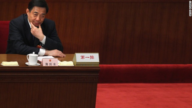 Former Communist Party official Bo Xilai has not been seen since his removal from his post in Chongqing.