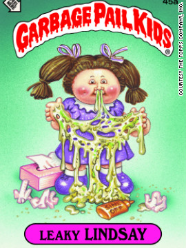 "Topps' ""Garbage Pail Kids"" sticker trading cards sought to parody the ""saccharine cuddliness"" of the Cabbage Patch dolls with something grotesque yet endearing, says cartoonist Art Spiegelman, who worked on the series. Click through the gallery for highlights of images from the new compilation, ""Garbage Pail Kids."""