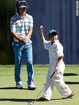 The annual Par 3 contest held on the eve of the tournament is a chance for a bit of fun before the serious business starts, with golfers joined by their families in a relaxed atmosphere. But winning the competition isn't necessarily advised -- no-one who has won it has gone on to win a Green Jacket in the same year.