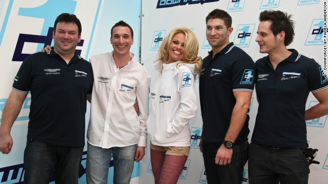 Actress and model Pamela Anderson is fronting the Downforce1 racing team, which plans to compete in the 2012 European Le Mans and International GT Open series.