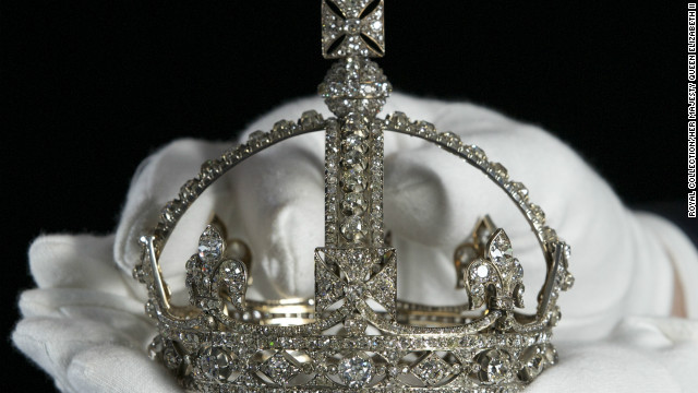 This tiny crown -- which stands less than 10cm tall -- was made for Queen Victoria after the death of her husband, Prince Albert, in 1861; it was designed to be worn over her widow's veil.