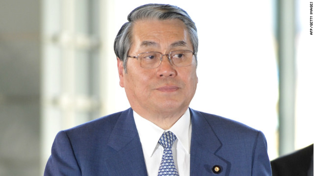 Naoki Tanaka, Japan's new defense minister, as pictured at the prime minister's official residence in Tokyo in January.