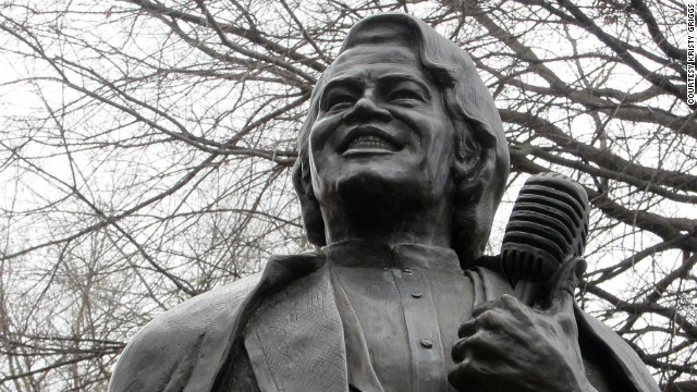 A statue of Augusta native James Brown provides a popular photo opportunity for visitors.