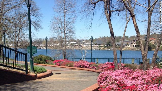 "Riverwalk is Augusta's ""front porch"" built along the Savannah River."