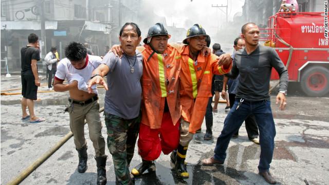 Al menos 10 muertos y más de 100 heridos por dos explosiones en Tailandia