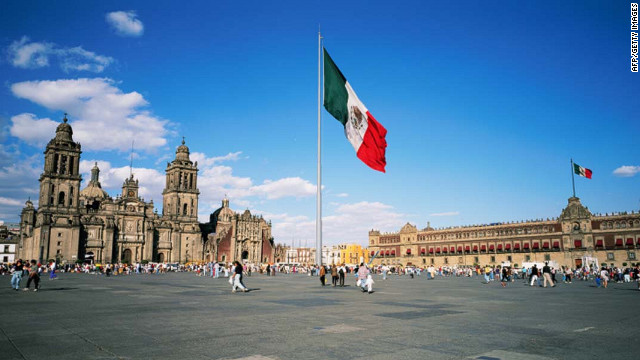 The Zcalo plaza in Mexico City.