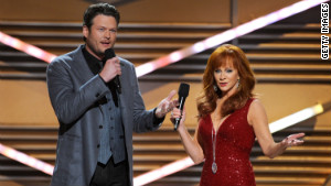 For the second year in a row the awards show was hosted by Blake Shelton and Reba McEntire.