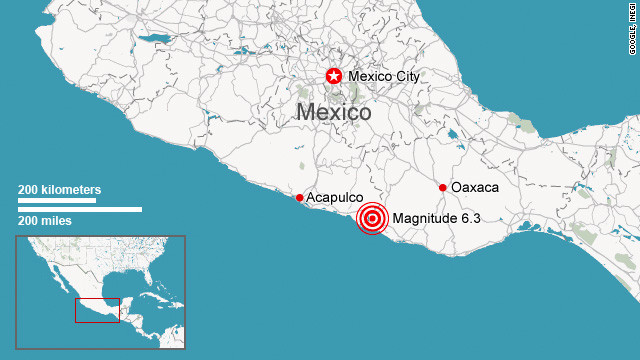 The USGS describes Mexico as one of the most seismically active areas of the world.
