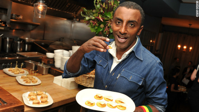Star of U.S. television show The Inner Chef, Marcus Samuelsson advises American Airlines in-flight dining program.