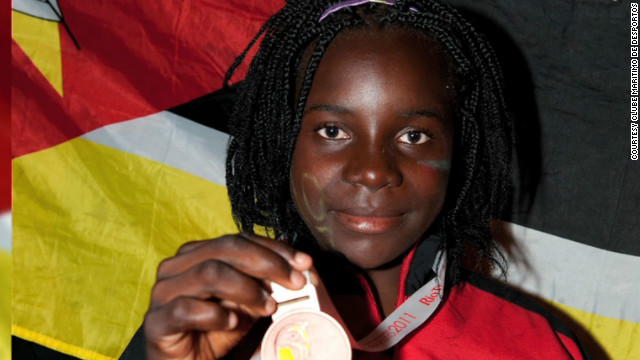 Maria Mabjaia, 14, won the bronze medal in the women's laser radial sailing event at the All-Africa Games last year.