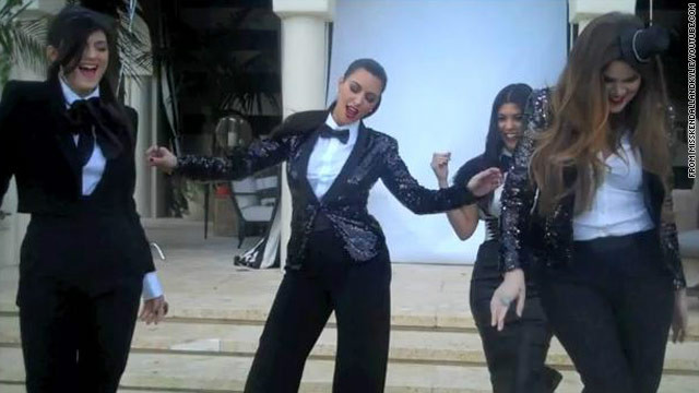 Kardashian family films music video
