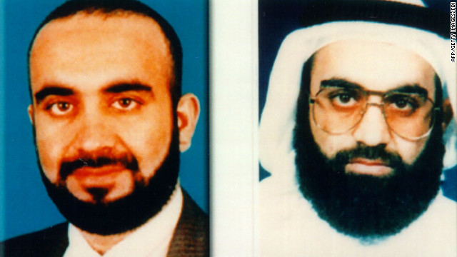 Khalid Sheikh Mohammed is shown in undated photos released by the FBI in 2001.
