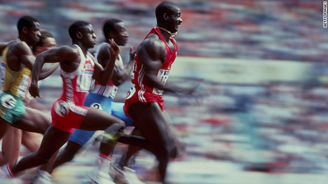 The 100 meter final at the 1988 Seoul Olympics remains one of the most infamous and fascinating moments in the games' history. The race was won in a world record time by Canadian sprinter Ben Johnson. But he was to be stripped of his medal and record under the shadow of drug use.