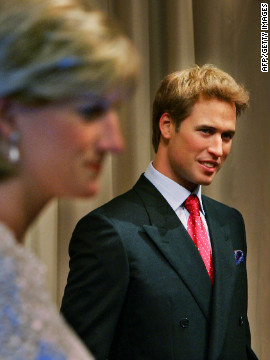 Prince William's waxwork replaces a &quot;younger&quot; version, which was unveiled alongside one of his mother Diana, Princess of Wales, at the attraction in August 2005. 