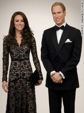 In the Amsterdam version, &quot;Kate&quot; wears a copy of the floor-length black lace Temperley London dress she wore to the premiere of the film &quot;War Horse&quot; in January.