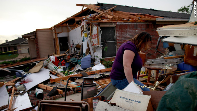Arlington's mayor signed a disaster declaration to help cope with the destruction.