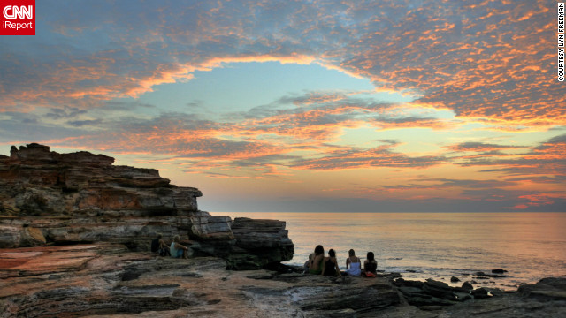 Lyn Freeman captured the sunset from Gantheaume Point, during a trip where she