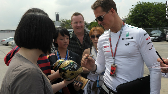 Michael Schumacher won in Shanghai in 2006 with Ferrari but has had little other success at the race.