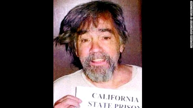 Manson is seen slightly disheveled in this 2006 prison booking photo.