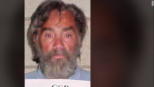 Cult leader Manson is seen in the prison booking photo from August 2002.