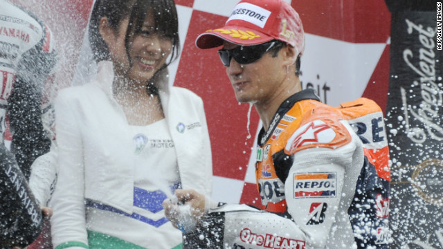 Another Honda rider, Dani Pedrosa, was fourth in 2011 after missing three races due to a fractured collarbone at the French Grand Prix in May. The Spaniard was runner-up to Lorenzo in 2010.