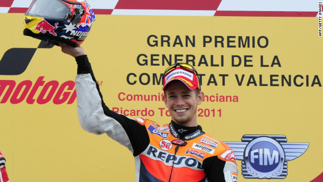 Honda's world champion Casey Stoner won 10 of the 17 completed races in MotoGP last season, including the finale in Valencia. He is hoping to retain his Qatar race title in Sunday's season opener.