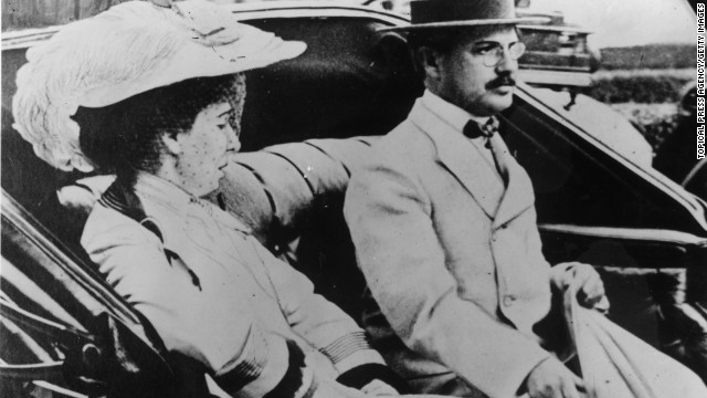 This circa 1910 photos shows banking and mining millionaire Benjamin Guggenheim with his wife Florette Seligman. Guggenheim died in the Titanic disaster.