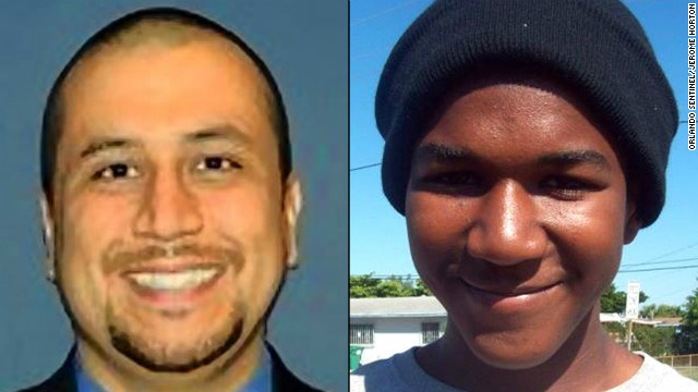 George Zimmerman (left), Trayvon Martin