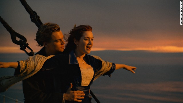 "Near, far, wherever you are, you probably recognize this epic scene from James Cameron's 1997 film ""Titanic."" The movie, which gave Leonardo DiCaprio official heartthrob status and Kate Winslet an Oscar nomination, is the second-highest grossing film of all time in the States. It also gave Celine Dion a huge hit in the theme song that you are probably hearing in your head right now."