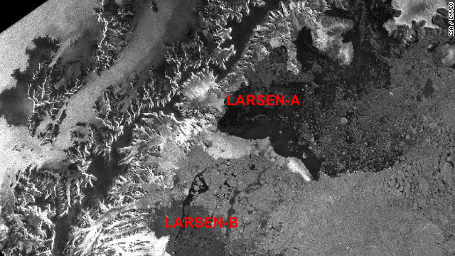 Satellite documents thinning ice shelf