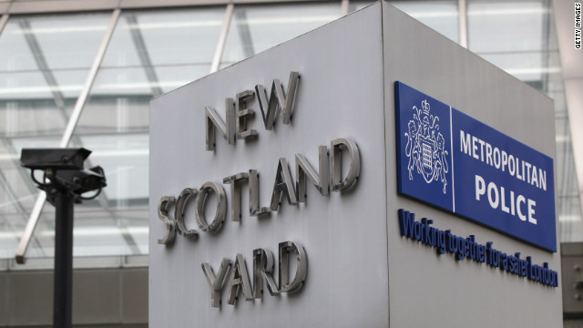 General view of the sign for the New Scotland Yard building in Victoria on January 27, 2011 in London, England.