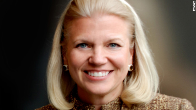 Virginia M. Rometty is the chief executive officer and chairwoman of IBM.