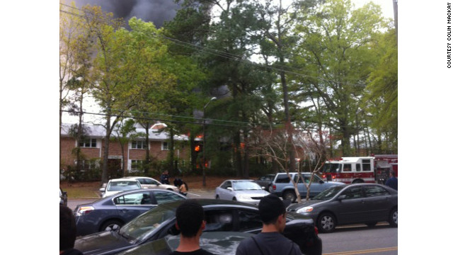 At least one building was damaged in the crash, CNN affiliates reported.