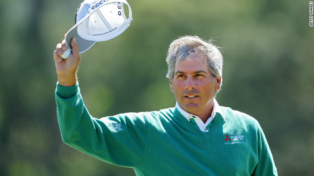Fred Couples rolled back the years with a five-under-par 67 to co-lead the Masters at the halfway stage.