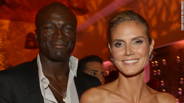 Singer Seal and Heidi Klum as seen at an Emmy nominees celebration on September 18, 2011 in West Hollywood, California.