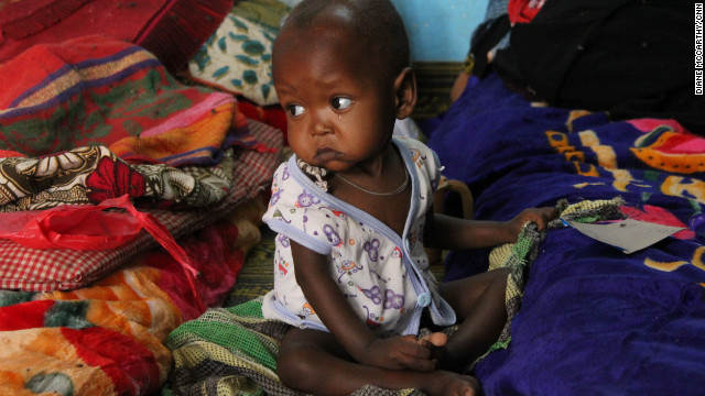 At a nutritional feeding center in Mao, Chad, children can be brought to the brink after just two weeks. But then they go home, where food is often scarse.