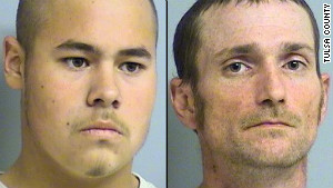 Jake England, 19, and Alvin Watts, 33, allegedly shot five black people, three of whom died, in Tulsa, Oklahoma.