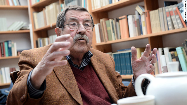 German poet Gunter Grass, who won a Nobel Prize in literature in 1999, is now unwelcome in Israel.