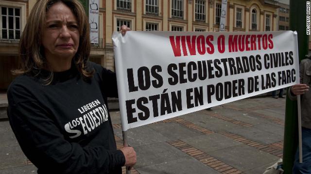 Familiares de civiles secuestrados por las FARC piden no olvidar sus casos