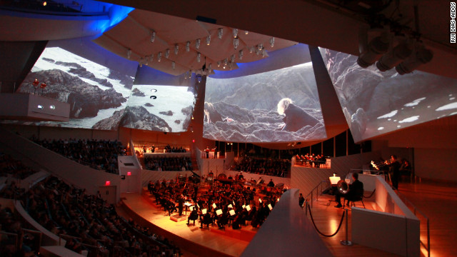 The New World Symphony performs the premiere of &quot;Polaris&quot; in January at the symphony's New World Center home in Miami Beach, Florida. 
