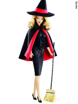 The &quot;Bewitched&quot; Barbie doll might not be able to wriggle her nose, but she sure looks a lot like Samantha Stephens (Elizabeth Montgomery).