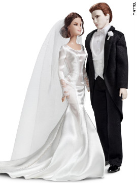 &quot;Twilight&quot; has inspired quite a few Barbie dolls since 2009, shortly after the first film's November 2008 debut. The most recent installment, &quot;Breaking Dawn -- Part 1,&quot; called for a wedding-ready Edward and Bella, who dons a miniature version of the Carolina Herrara gown Kristen Stewart wore in the film.