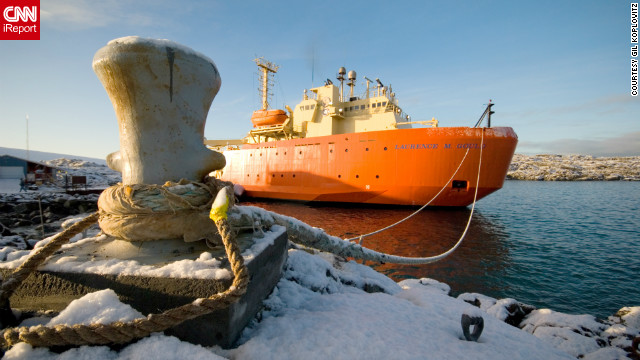 Gil Koplovitz traveled to the Palmer research station, part of the United States Antarctic Program, and took this photo of the R/V Laurence M. Gould, the ship he used to reach the station from Chile.