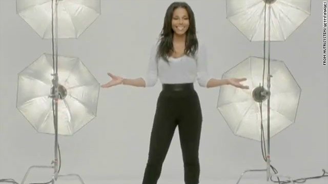 Janet Jackson shows off slim shape in NutriSystem ad