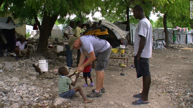 John Poitevent is a pastor at Christ Fellowship in West Palm Beach, Florida,<strong> </strong>and a volunteer at New Life. Even before the earthquake two years ago, he was making trips to Haiti to bring supplies to and raise awareness about the impoverished country.