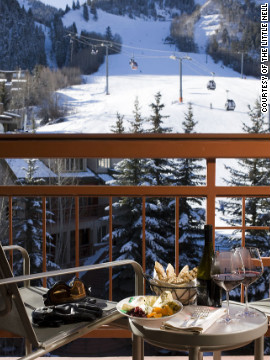 The kitchen staff at Little Nell in Aspen, Colorado offers in-room dining, as well as gourmet picnic lunches for the get-up-and-go types. <a href='http://www.departures.com/slideshows/top-hotel-room-service/7?cnn=yes' target='_blank'>See more irresistible room service at Departures.com</a>