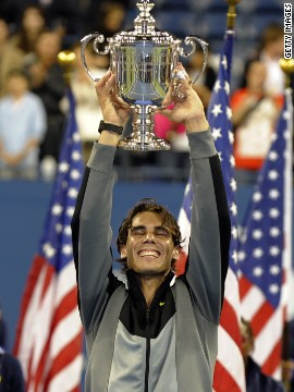 The tennis stars' first grand slam final battle came at the 2010 U.S. Open. Nadal took the title 6-4 5-7 6-4 6-2.