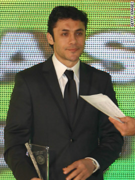 Hassan was named Best African Footballer based in Africa during the 2010 CAF awards. He has helped Egypt win the African Cup of Nations four times, in 1998, 2006, 2008 and 2010, and pointed to the Arab uprising last year as a factor in the team's recent demise.