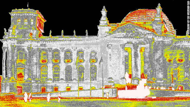 ... and Germany's parliament building in Berlin. IRT's Stewart Little says thermal imaging can help motivate people to inuslate their homes.